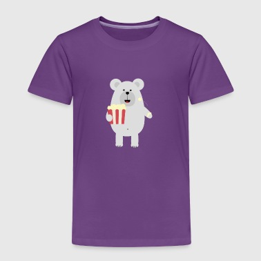 Polar Bear with popcorn Sq979 - Toddler Premium T-Shirt