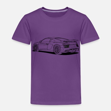 Cars racing car outlines - Toddler Premium T-Shirt