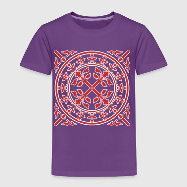 Medieval Cross Medieval romanesque wreath square - Toddler Premium T-Shirt