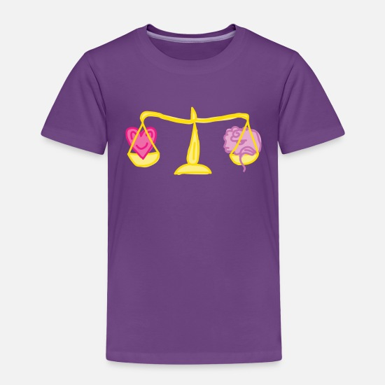 Love Baby Clothing - Heart vs Brain - Toddler Premium T-Shirt purple