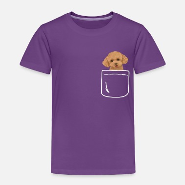 Poodle Toy Poodle Dog In Your Front Pocket Puppy - Toddler Premium T-Shirt