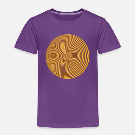 Art Baby Clothing - Concentric circles YELLOW - Toddler Premium T-Shirt purple