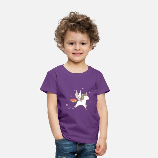 Unicorn Baby Clothing - sweet unicorn - Toddler Premium T-Shirt purple