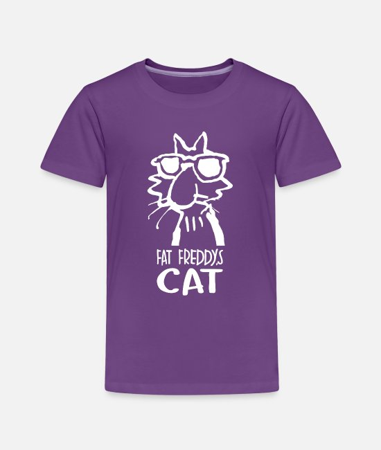 Brothers T-Shirts - Fat Freddys Cat - Toddler Premium T-Shirt purple