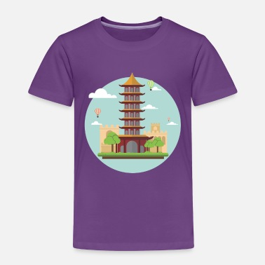 Asian asian tower - Toddler Premium T-Shirt
