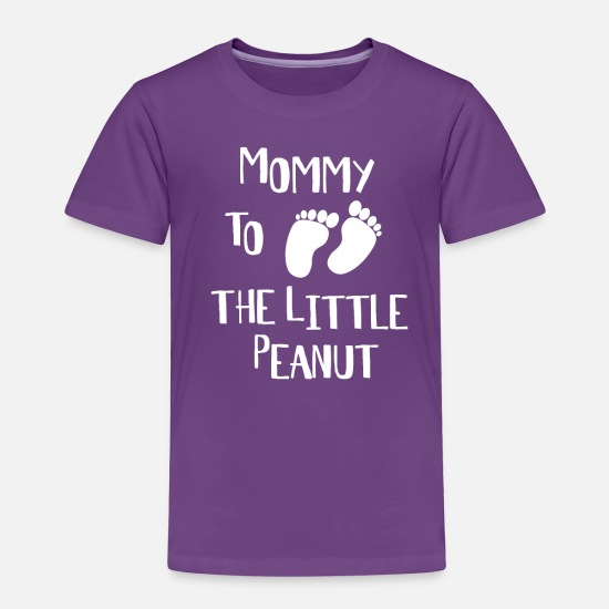 Shower Baby Clothing - Mommy To The Peanut - Baby Shower Shirt - Toddler Premium T-Shirt purple