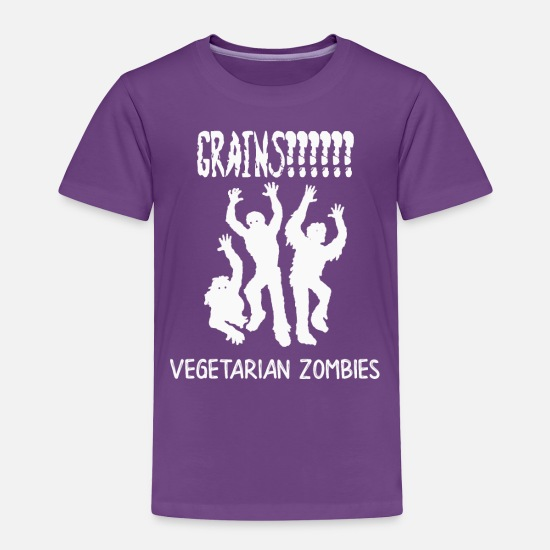 Zombie Baby Clothing - Zombie Vegetarians Grains Funny Zombie - Toddler Premium T-Shirt purple