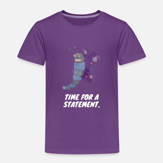 Cute Baby Clothing - Time for a statement - Toddler Premium T-Shirt purple