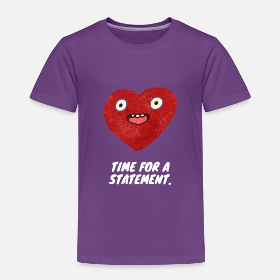 Statement Baby Clothing - Time for a statement - Toddler Premium T-Shirt purple