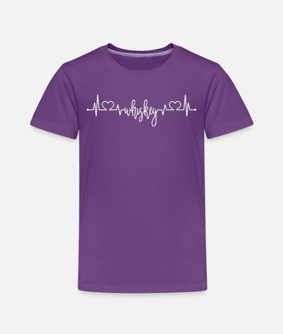 Wine T-Shirts - Whiskey Heartbeat Whiskey Lover Gift - Toddler Premium T-Shirt purple