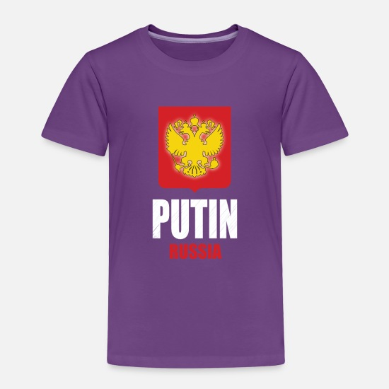 Coat Of Arms Baby Clothing - Putin Coat of Arms Eagle Russian Flag - Toddler Premium T-Shirt purple