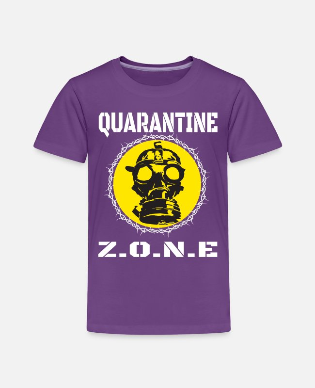 Infection T-Shirts - quarantine area - Toddler Premium T-Shirt purple
