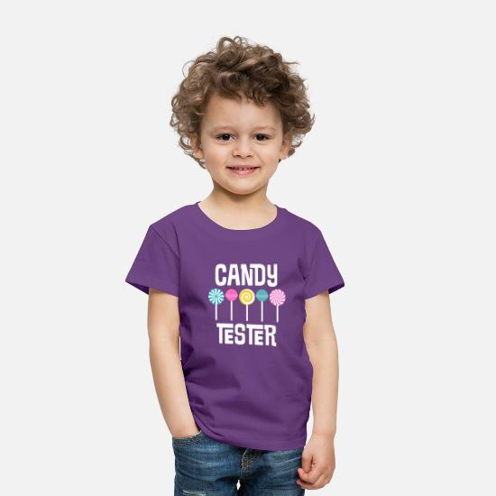 Lollipop Baby Clothing - Candy Tester - Toddler Premium T-Shirt purple