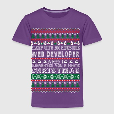 Sleep With Awesome Web Developer White Christmas - Toddler Premium T-Shirt