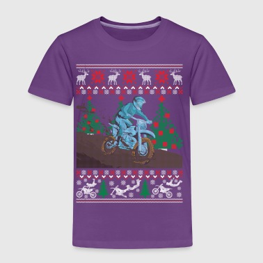 Dirt Bike Ugly Christmas Sweater Funny Holiday T-S - Toddler Premium T-Shirt