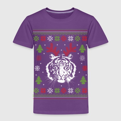 Tiger Christmas Happy xmas Tiger Design - Toddler Premium T-Shirt