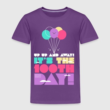 Cute Colorful Up and Away Balloon 100 Days of Scho - Toddler Premium T-Shirt