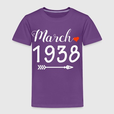 March 1938 Heart And Arrow - Toddler Premium T-Shirt