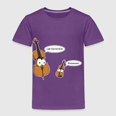 Funny Cello Violin Double Bass Music T Shirt Gift - Toddler Premium T-Shirt