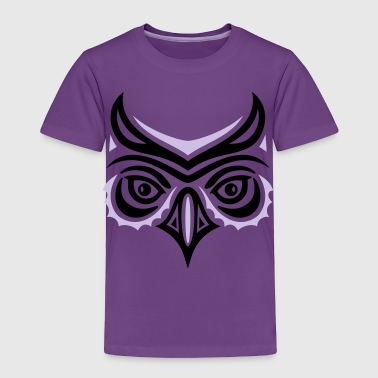 Big owl head in Haida tattoo style. Owl face. - Toddler Premium T-Shirt