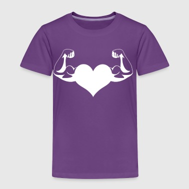 Workout Heart Muscles Arm Biceps Gift idea Funny - Toddler Premium T-Shirt