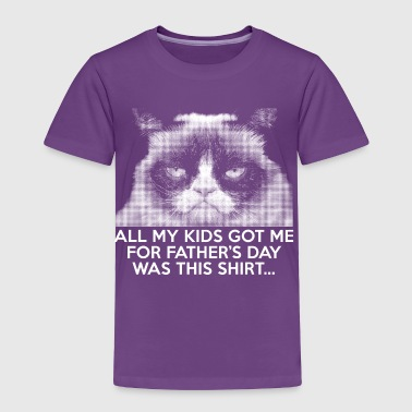 Funny Grumpy Cat Father's day T-shirt - Toddler Premium T-Shirt
