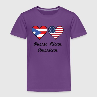 Puerto Rican American Flag Hearts - Toddler Premium T-Shirt