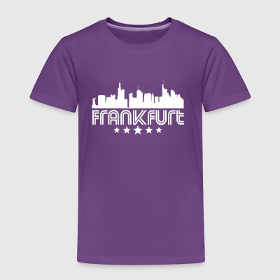 Retro Frankfurt Skyline - Toddler Premium T-Shirt