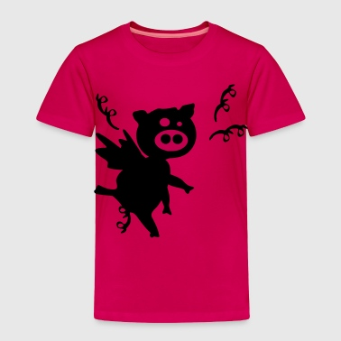 Black pig with wings - Toddler Premium T-Shirt