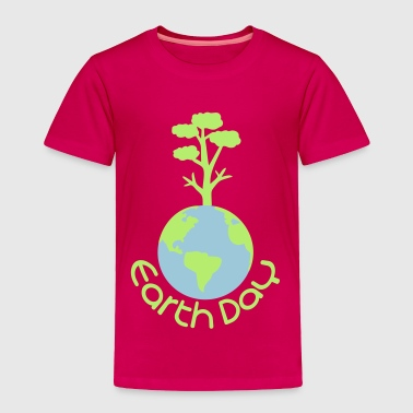 earth day typo with tree - Toddler Premium T-Shirt