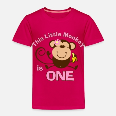 Birthday 1st Birthday Monkey Girl - Toddler Premium T-Shirt