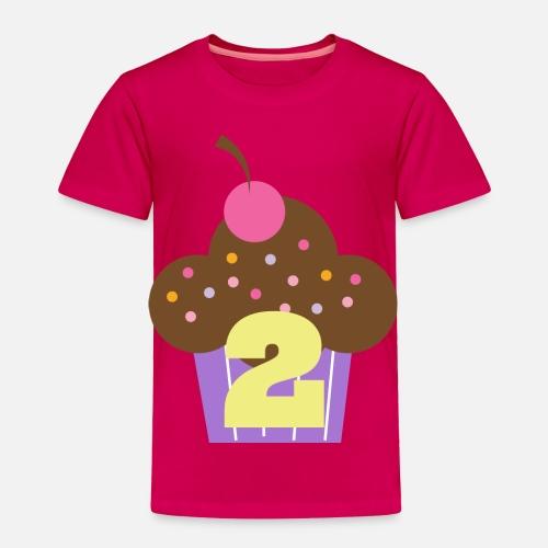 Toddler Premium T Shirt2nd Birthday Cupcake