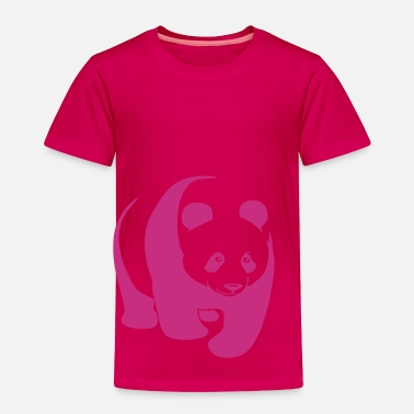 Panda Teddy panda teddy bear face cute animal save - Toddler Premium T-Shirt