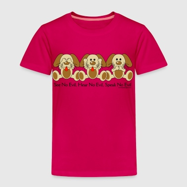 Wise See No Evil Puppies - Toddler Premium T-Shirt