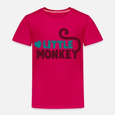 Monkey Family LITTLE monkey perfect for a family design - Toddler Premium T-Shirt