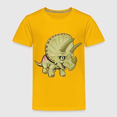 Cute Cartoon Triceratops - Toddler Premium T-Shirt