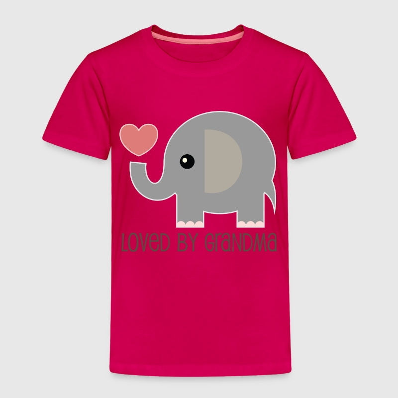 Loved By My Grandma baby elphant - Toddler Premium T-Shirt