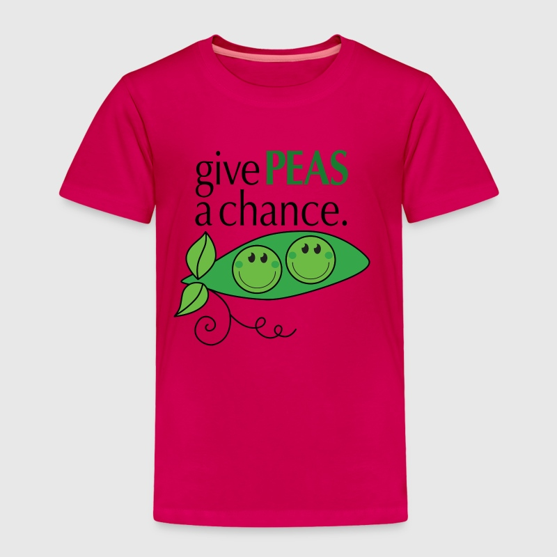 give PEAS a chance. - Toddler Premium T-Shirt