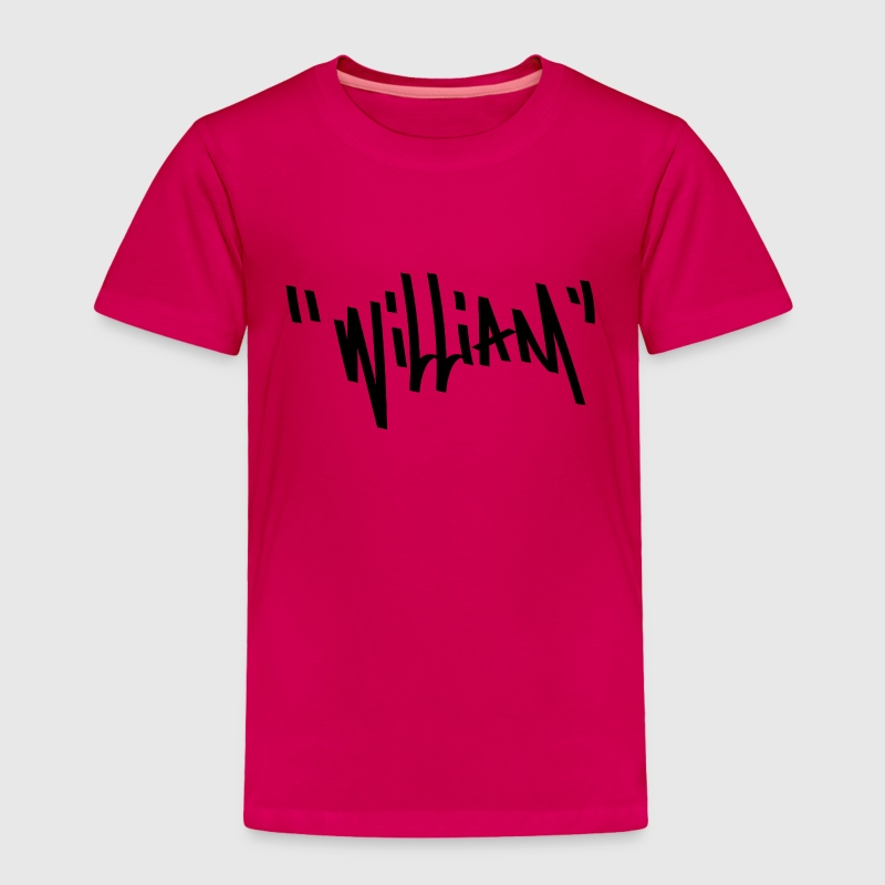 William Graffiti Name - Toddler Premium T-Shirt
