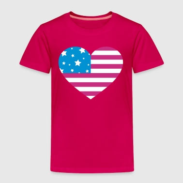 4th Of July American Heart - Toddler Premium T-Shirt