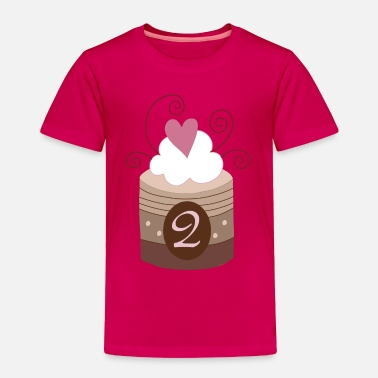 Cute 2nd Birthday 2nd Birthday Cupcake - Toddler Premium T-Shirt