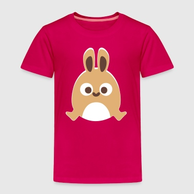 Happy Cute Bunny Jump Cartoon - Toddler Premium T-Shirt