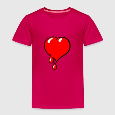 Red Bleeding Heart liberal - Toddler Premium T-Shirt