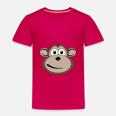 Cartoon Monkey Cartoon Monkey Face - Toddler Premium T-Shirt