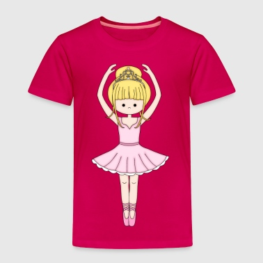 Pretty Little Ballerina in Pink - Toddler Premium T-Shirt