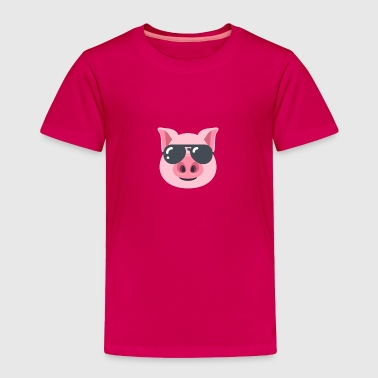 Pig with Sunglasses - Toddler Premium T-Shirt