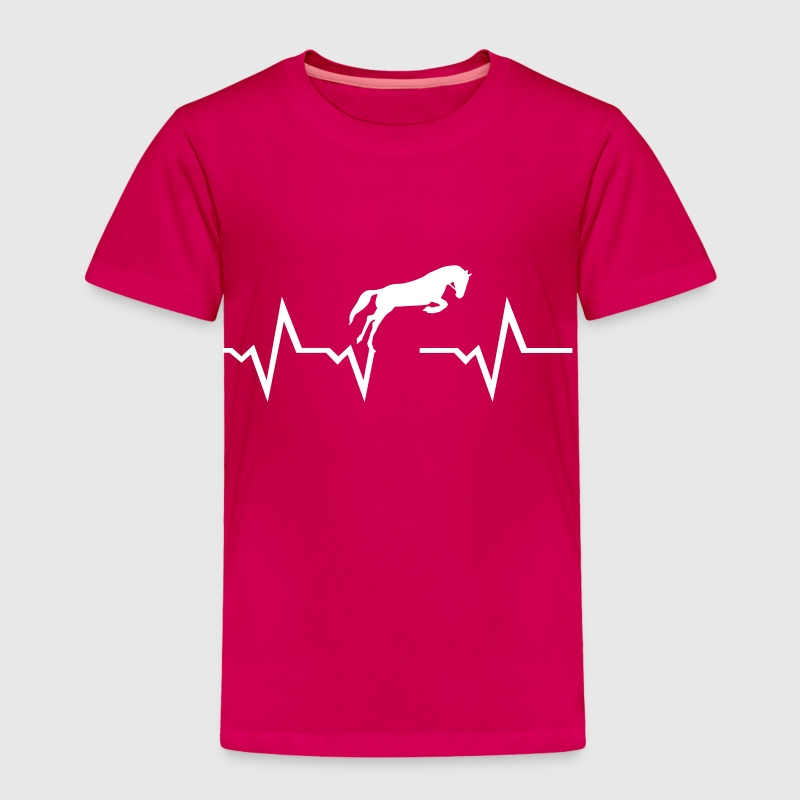 Horse heartbeat - Toddler Premium T-Shirt