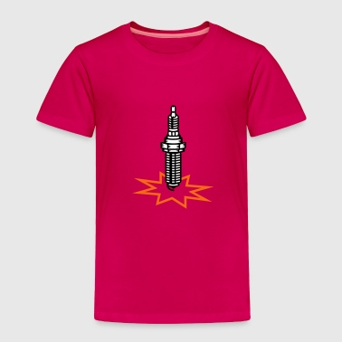 A spark plug with spark - Toddler Premium T-Shirt