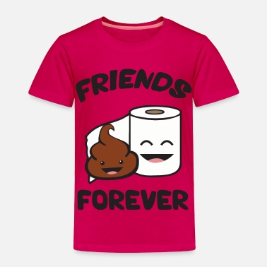 Cute Cartoon Friends Forever - Poop and Toilet Paper Roll - Toddler Premium T-Shirt