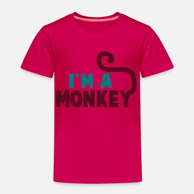 Short Tail I'm a monkey cute! with tail - Toddler Premium T-Shirt
